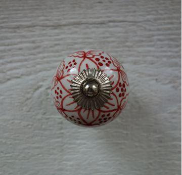 Bild von Möbelknopf mit Blumenmuster
