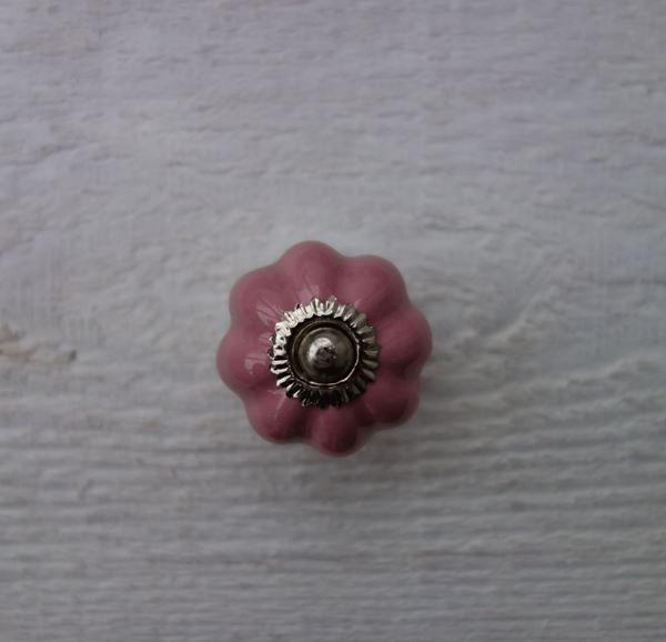 Bild von Möbelknopf Blume rosa