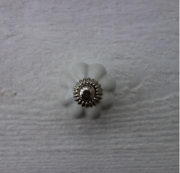 Bild von Möbelknopf weisse Blume