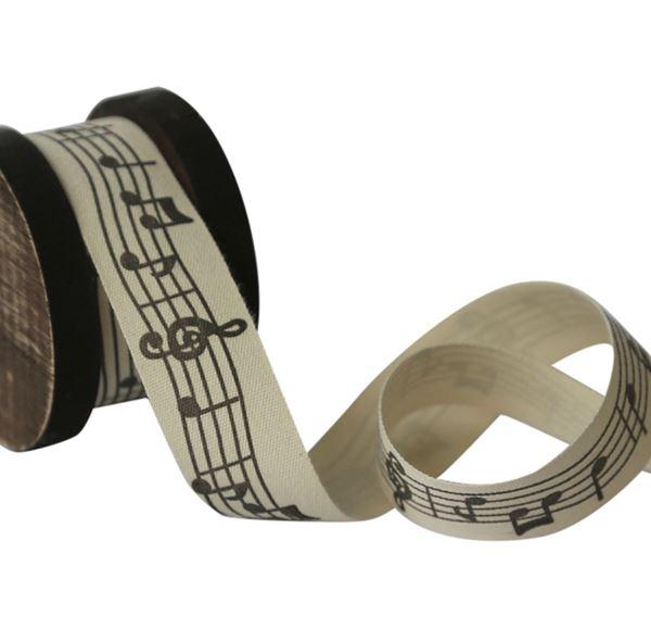 Bild von Holzspule mit Notenband
