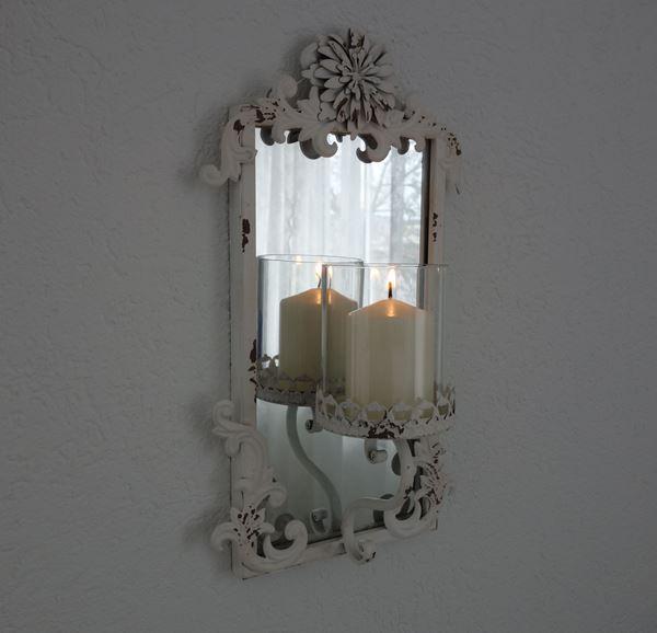 Bild von Wandspiegel mit Kerzenhalter