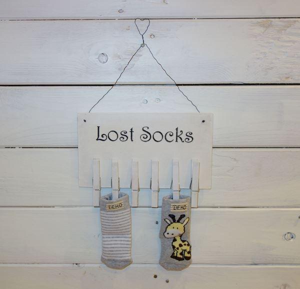 Bild von Lost socks spezielle Schriftart