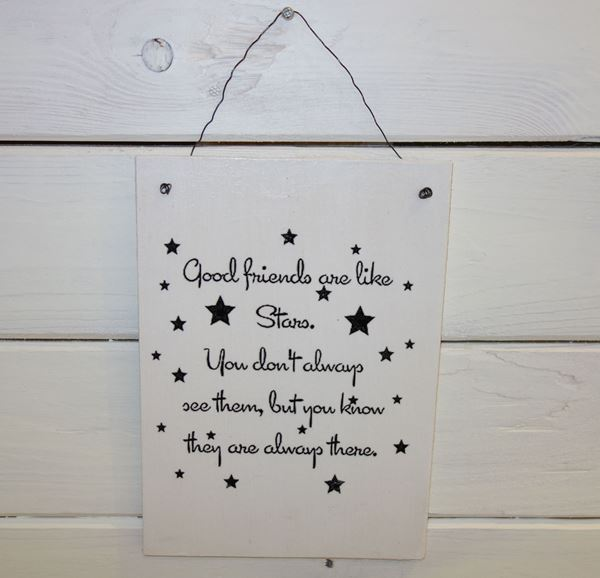 "Bild von Handmade Schild ""Good friends..."""