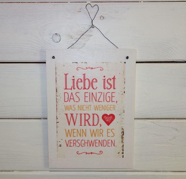 """Bild von Handmade Schild """"Liebe ist..."""""""