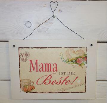 """Bild von Handmade Schild """"Mama ist..."""""""