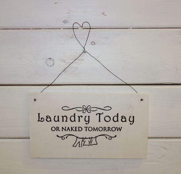 """Bild von Handmade-Schild """"Laundry..."""""""