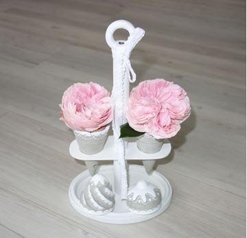 Bild von Eisbecher Blumenvase rund aus Beton