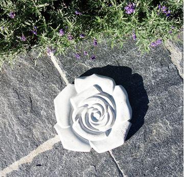 Bild von Rose aus Beton
