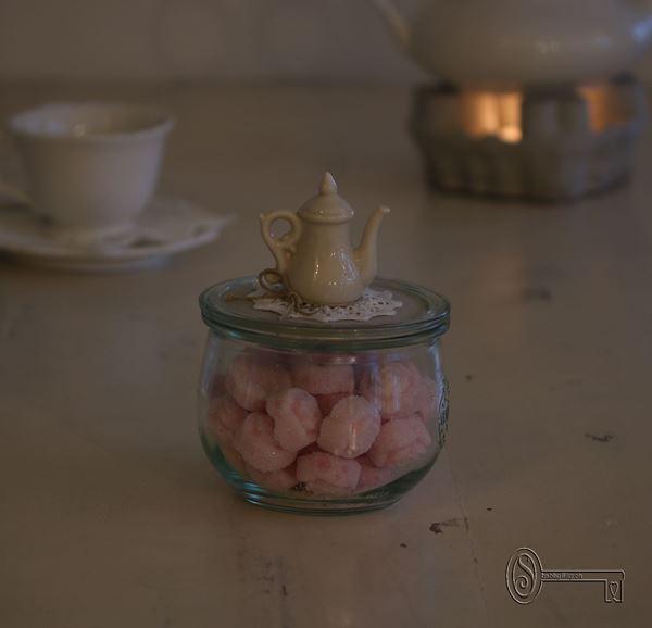 Bild von Weckglas mit Teekruggriff