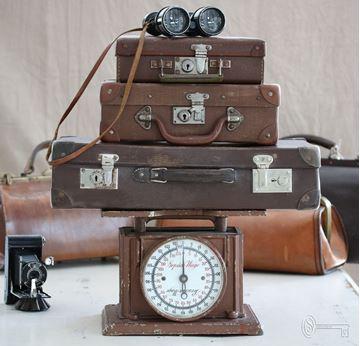 Bild von Antike Gepäck- und Personenwaage