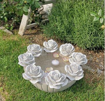 Bild von Schwimmkerzenschale Big Roses
