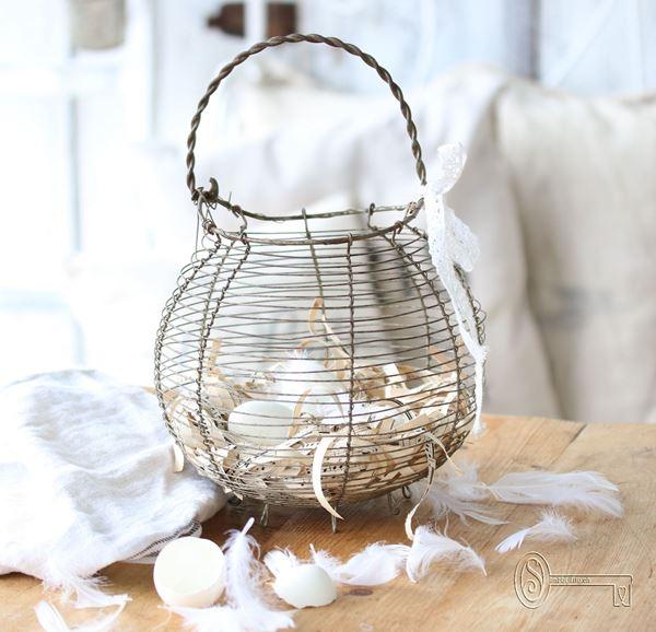 Bild von Antiker französischer Eierkorb